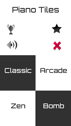 Black and White Piano Tiles