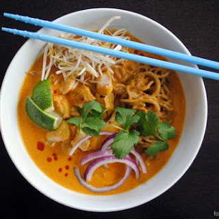 Thai Curry Chicken Noodle Soup (Khao Soi).