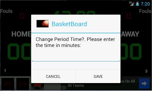 BasketBoard screenshot