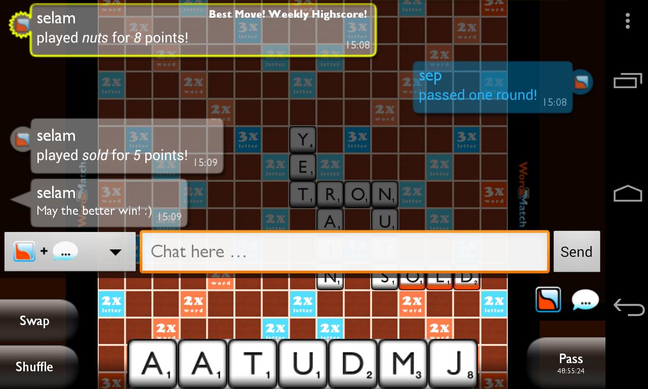 Wordmatch - PRO Scrabble - screenshot
