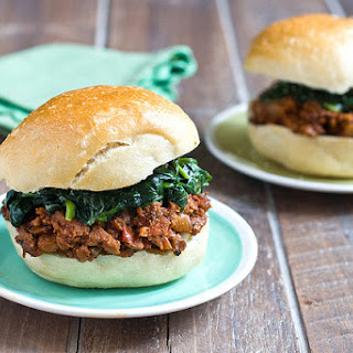 Jerk Sloppy Joes With Coconut Creamed Spinach.