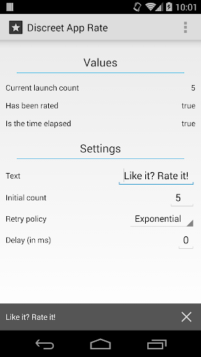 Discreet App Rate Sample