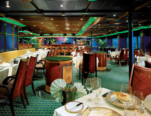 Carnival-Glory-Emerald-Room-Steakhouse - Carnival Glory's reservation-only Emerald Room Steakhouse serves a special menu of steaks, lamb and seafood.