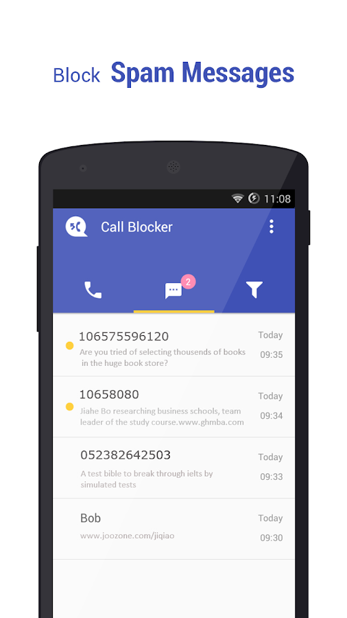 Call Blocker Free - Blacklist: captura de tela