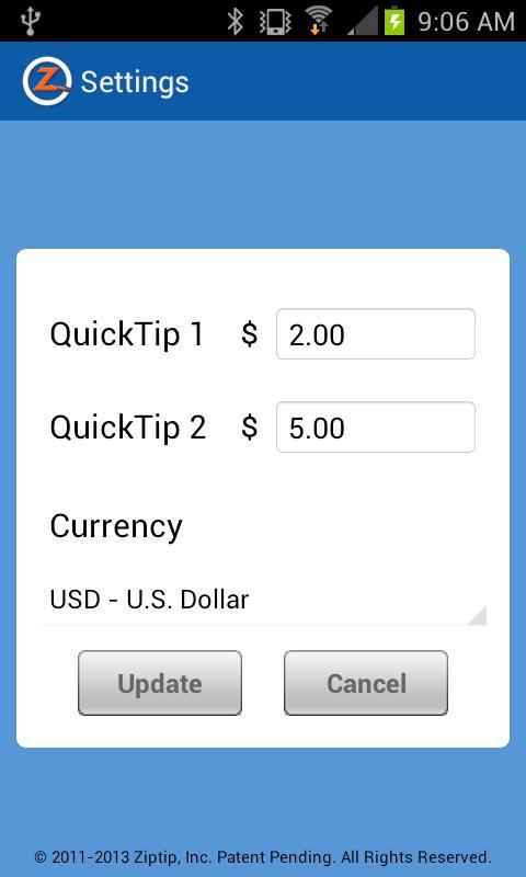 Ziptip - screenshot