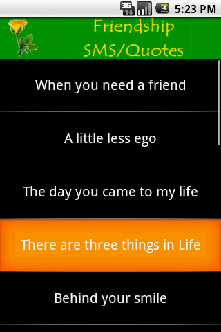 Friendship SMS - screenshot