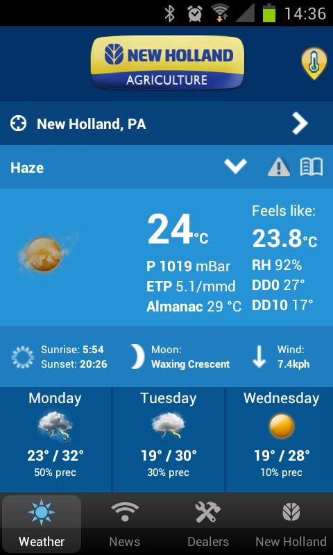 New Holland Farming Weather - screenshot