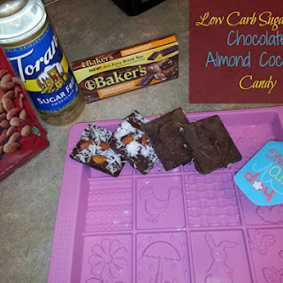 Low Carb Sugar Free Chocolate, Almond, And Coconut Candy