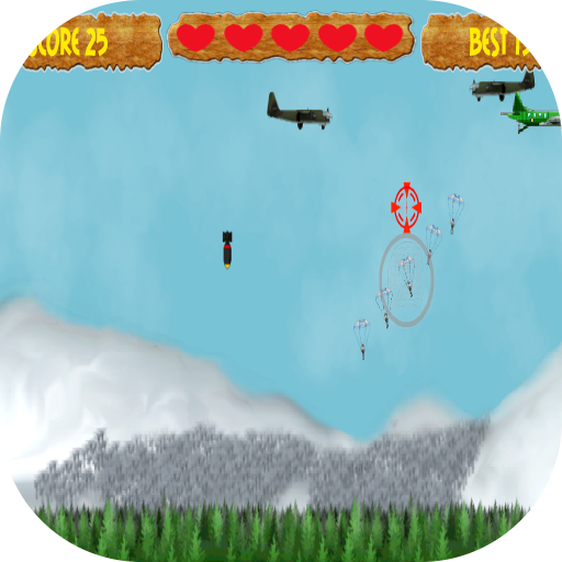 under the siege parachute bomb