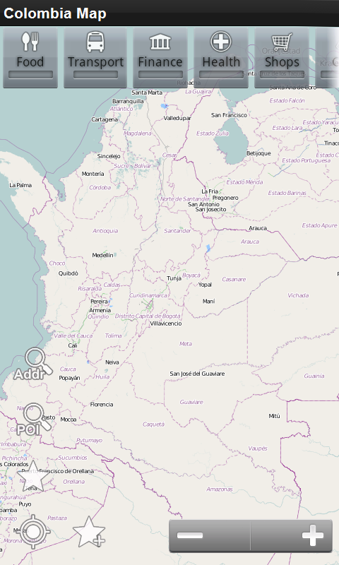 Colombia Offline Map - screenshot
