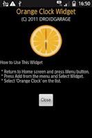 Screenshot of Orange Clock Widget