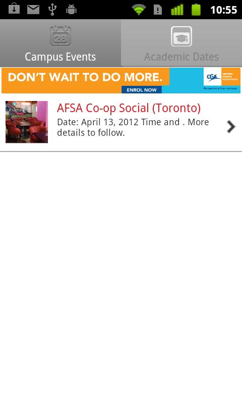 AFSA University of Waterloo - screenshot