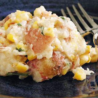 Corn and Smoked Mozzarella Mashed Potatoes.