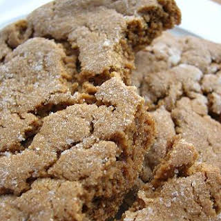 Molasses Crinkle Cookies.