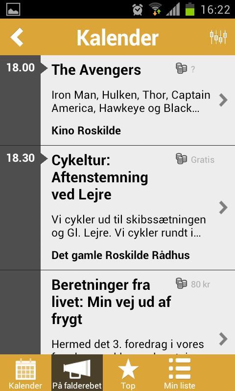 Roskilde LIVE - screenshot