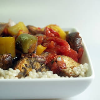 Grilled Vegetables Over Couscous.
