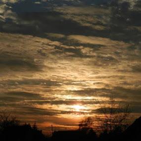 Evening Peace in Willage by Nat Bolfan-Stosic - Landscapes Sunsets & Sunrises ( calm, willage, sunset, peace, evening )
