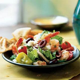 Greek Salad with Shrimp.