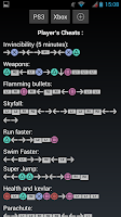 Screenshot of Cheats Codes for GTA V