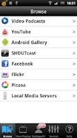 Screenshot of ZappoTV Mobile Media Center