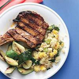 Pork Chops with Mango-Scallion Couscous.