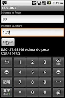 Screenshot of Cálculo do IMC