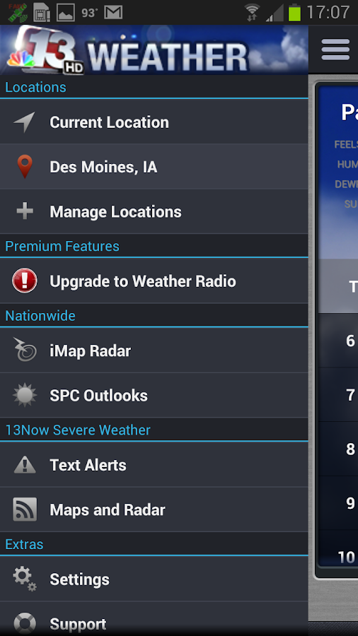 13Now Severe Weather - screenshot