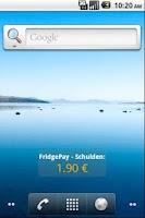 Screenshot of FridgePay