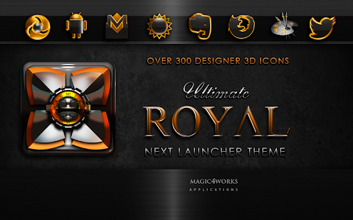Next Launcher Theme Royal