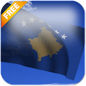 3D Kosovo Flag Live Wallpaper