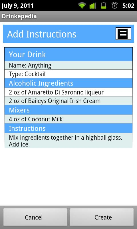 Drinkepedia: Drink Recipes - screenshot