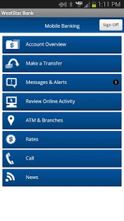 WestStar Bank Mobile Banking - screenshot thumbnail