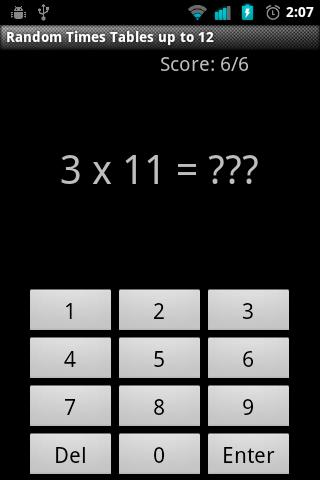 Tiny Times Tables - screenshot