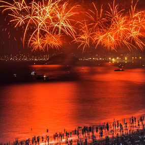 People and Fire by Darrell Champlin - Public Holidays New Year's Eve