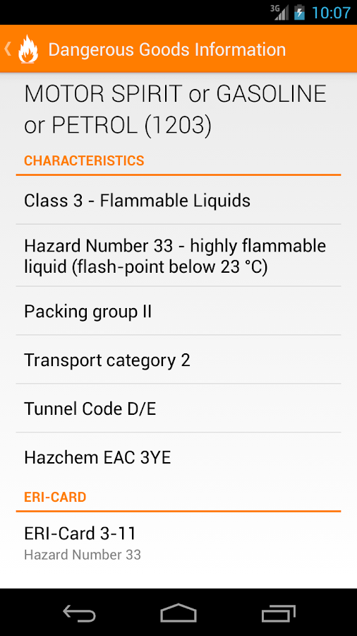 Dangerous Goods Manual - screenshot