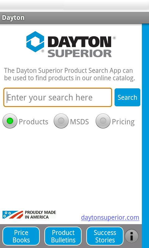 Dayton Superior Searcher - screenshot