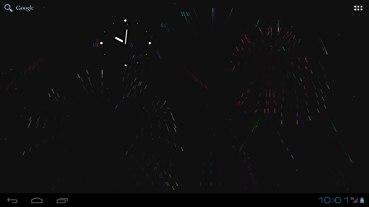 ASCII Fireworks Live Wallpaper - screenshot