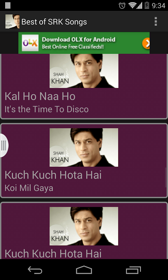 Best of SRK Songs-HD - screenshot