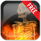 Skull Fire Live Wallpaper Free