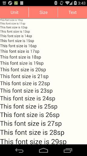 Font Size Checker