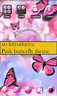 XO pink shoe theme GO Launcher - screenshot thumbnail