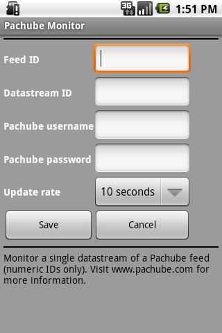 Pachube Widget (Official) - screenshot