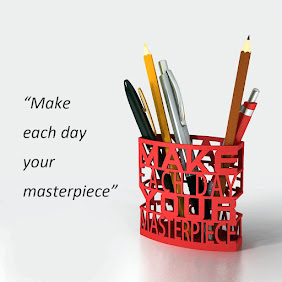 Daily Masterpiece Desk Orgainzer Desktop Pen Holder