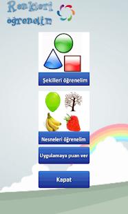 Renkleri öğrenelim Türkçe