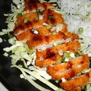 Ashley's Chicken Katsu with Tonkatsu Sauce.
