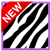 Cute PurpleZebra Keyboard Skin