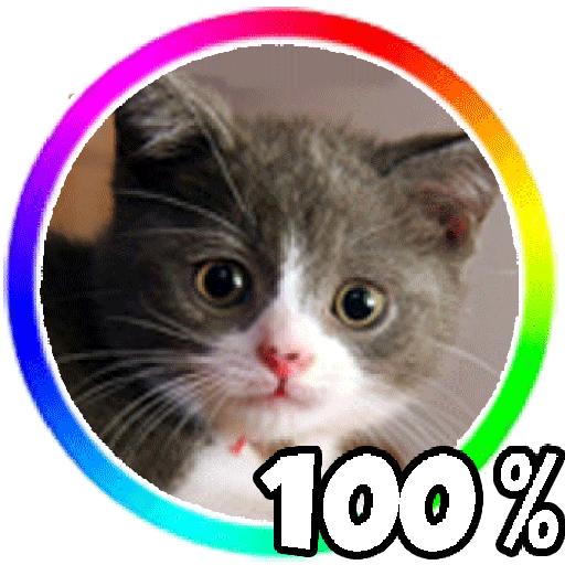 个人化の猫のバッテリーウィジェット LOGO-記事Game
