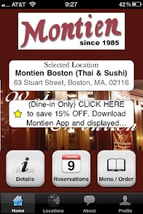 Montien Boston (Thai & Sushi) - screenshot thumbnail