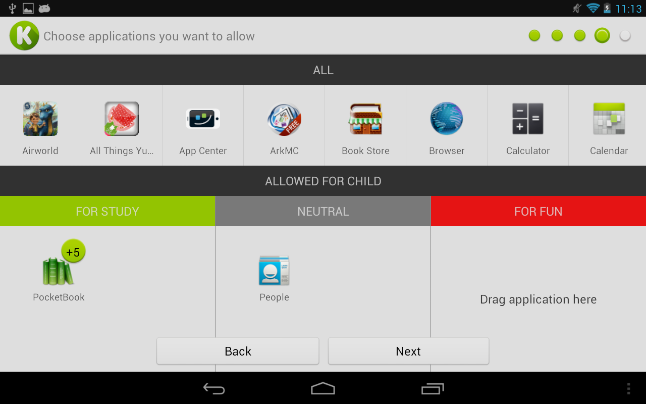 KidRead : Parental control- screenshot