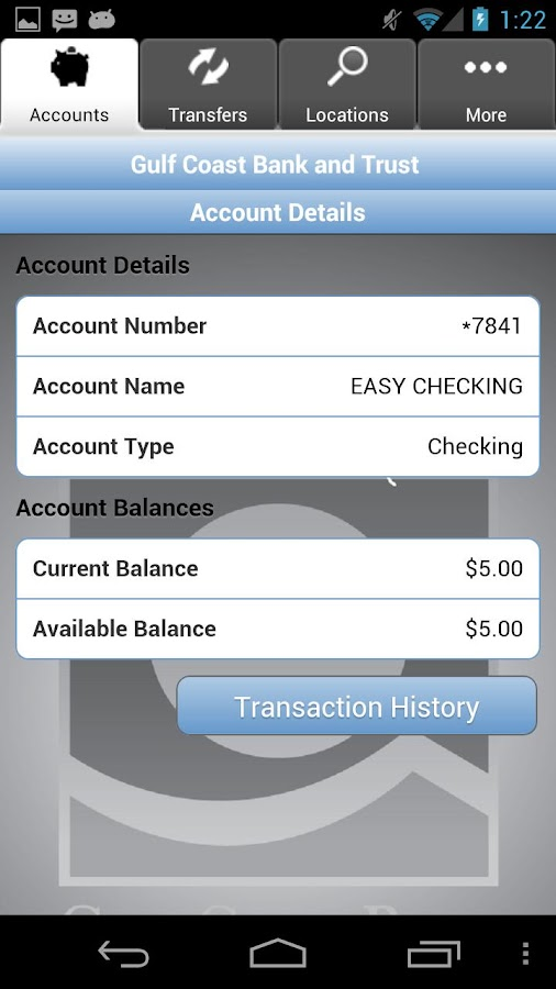 Gulf Coast Bank and Trust - screenshot
